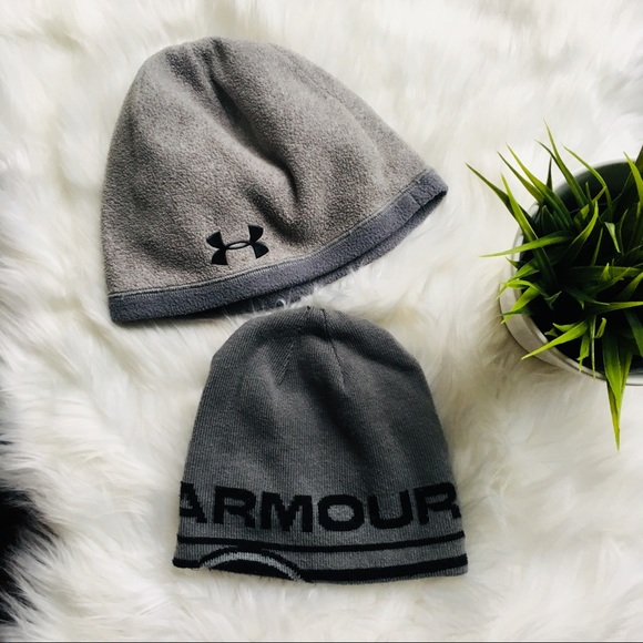 742353090 UNDER ARMOUR youth winter hats lot of 2